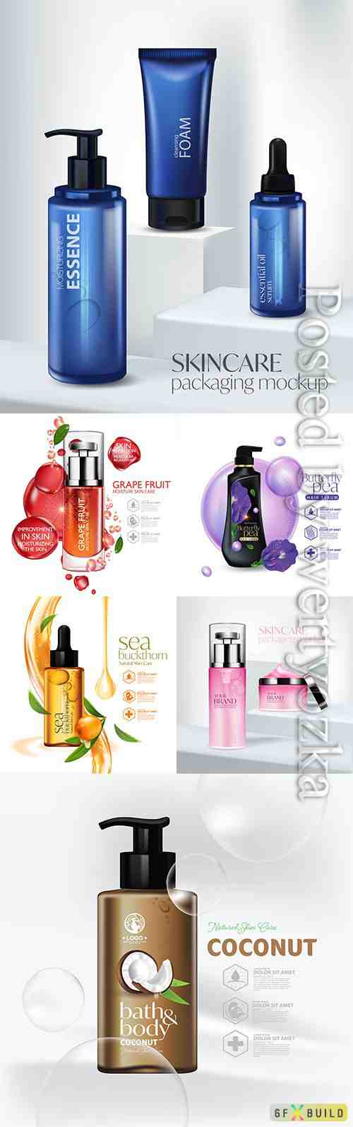 Beauty cosmetic product, luxury cosmetic bottle package