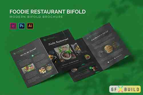 Foodie Restaurant - Bifold Brochure