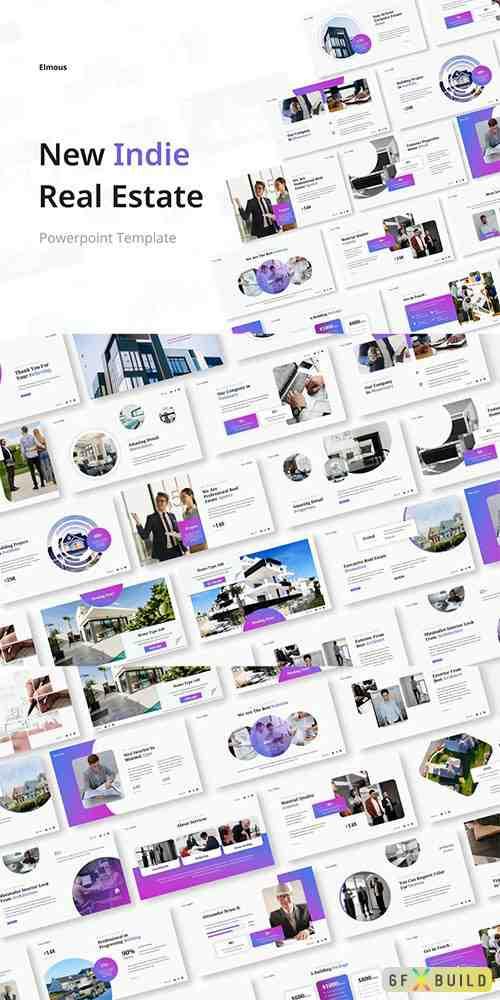 New Indie Real Estate Powerpoint, Keynote and Google Slides Presentation