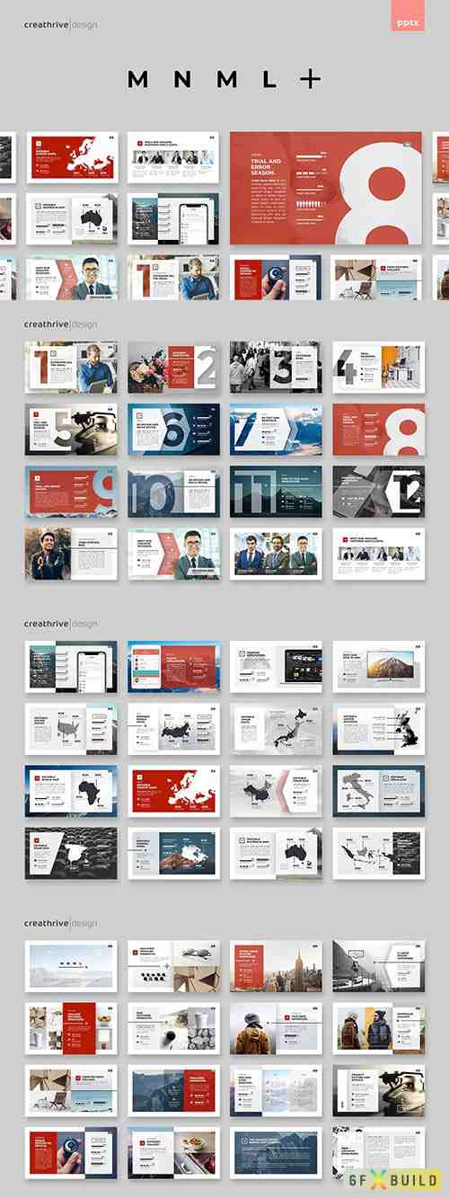 MNML Powerpoint and Keynote
