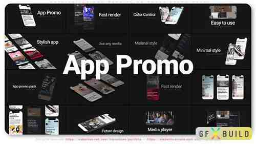 Application and Website on Phone Promo Pack 31549980