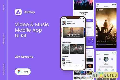 AirPlay - Video & Music Player App UI Kit