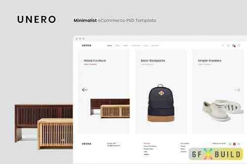 Unero - Minimalist eCommerce PSD Template