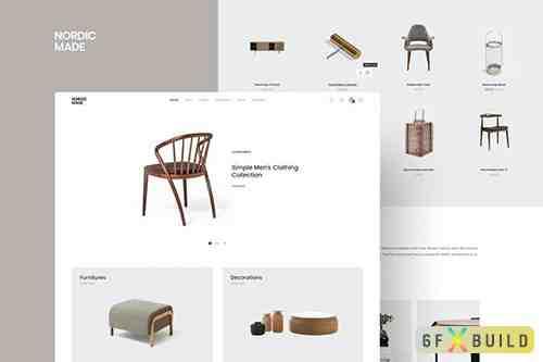NordicMade - Minimalist Furniture PSD Template