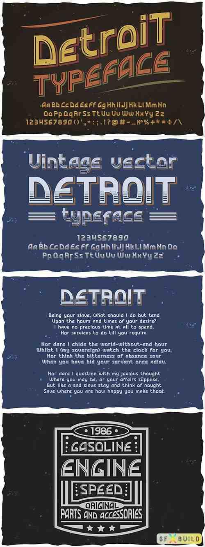Detroit OTF vintage label font. 2467571