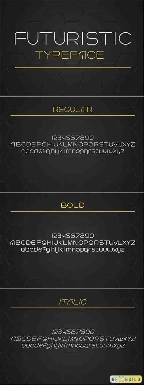 Futuristic linear style typeface. 1919250