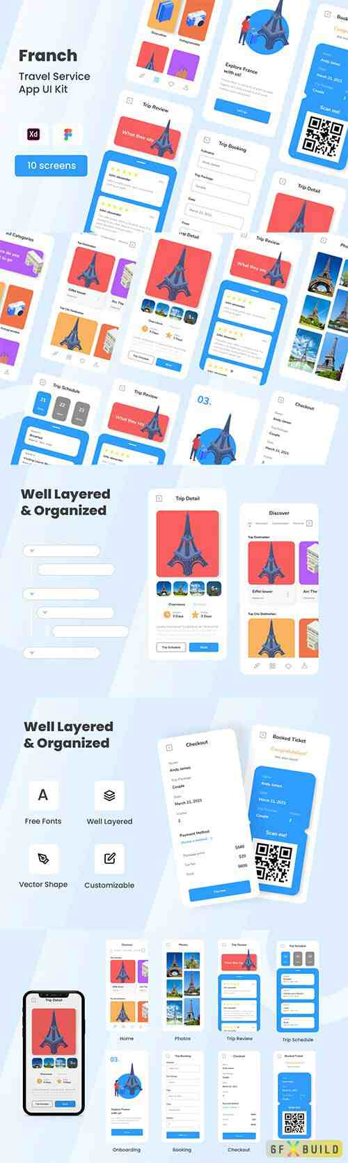 Franch - Travel Service Mobile App