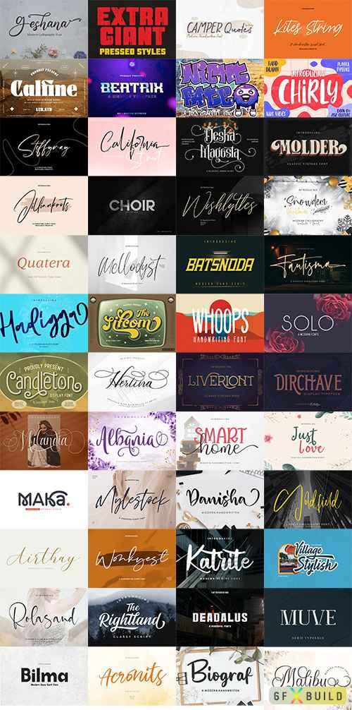 48 Awesome Fonts Bundle 1