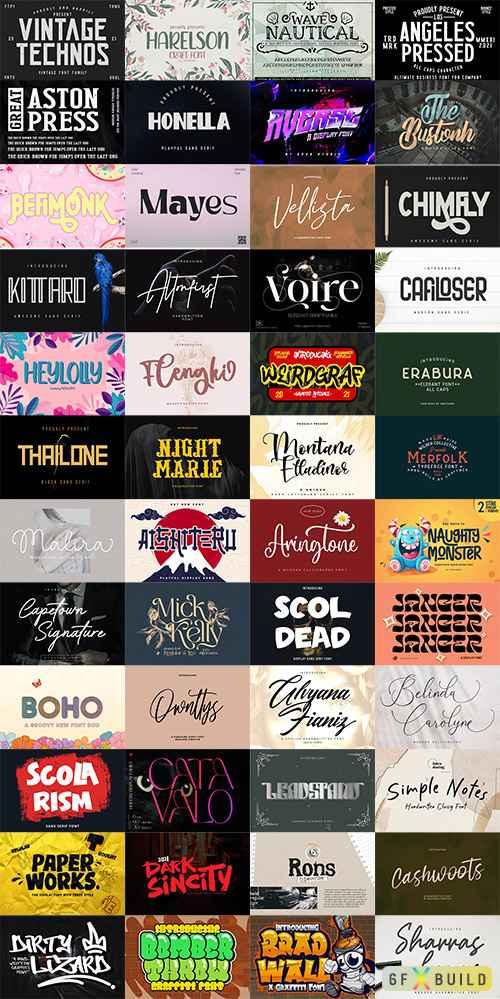 48 Awesome Fonts Bundle 2