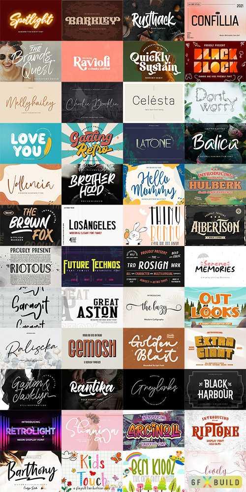 48 Awesome Fonts Bundle 3