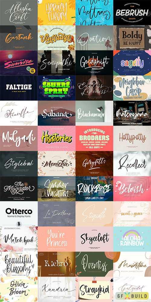 48 Awesome Fonts Bundle 4