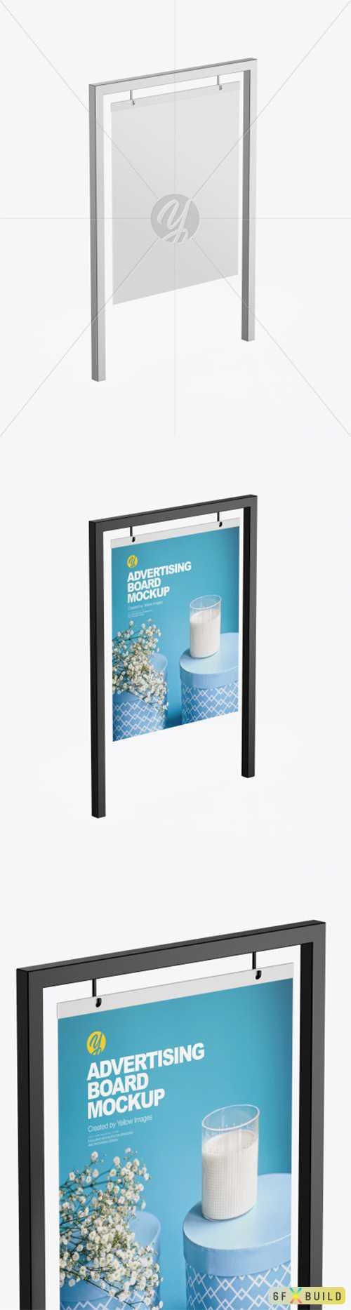 Advertising Board Frame Mockup 77322 TIF