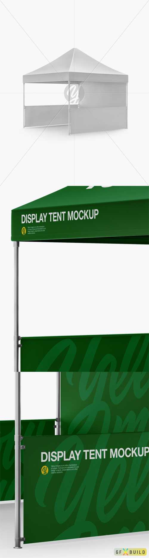 Display Tent Mockup - Half Side View 30574 TIF