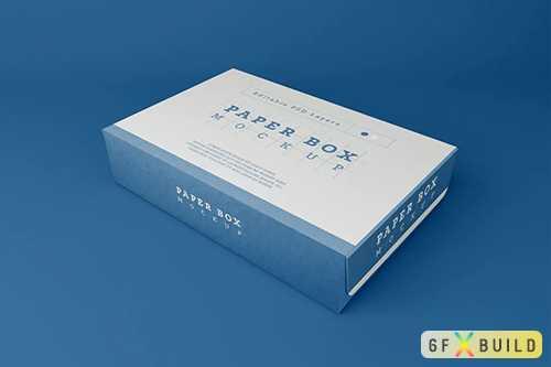 Paper Box Packaging Mockup AP6WMKM