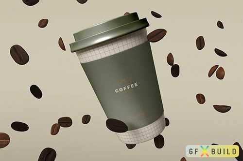 Take Away Coffee Cup Mockup G4J5WLL