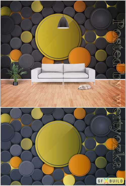 3d modern stylish stereo geometric tv background wall