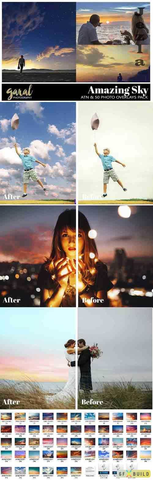 Amazing Sky Overlays, JPG Collection and Sky Replacer Action  811280