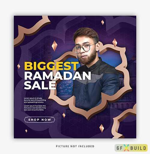 Ramadan sale, psd social media post template