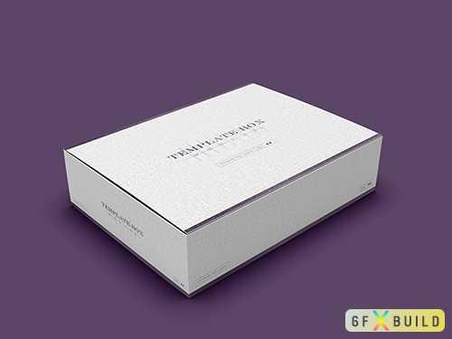 Psd rectangular cardboard box mockup