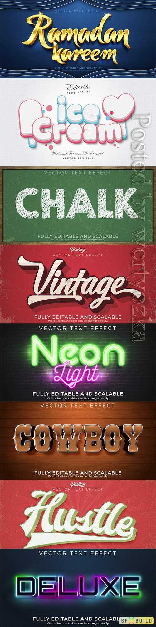 3d editable text style effect vector vol 341