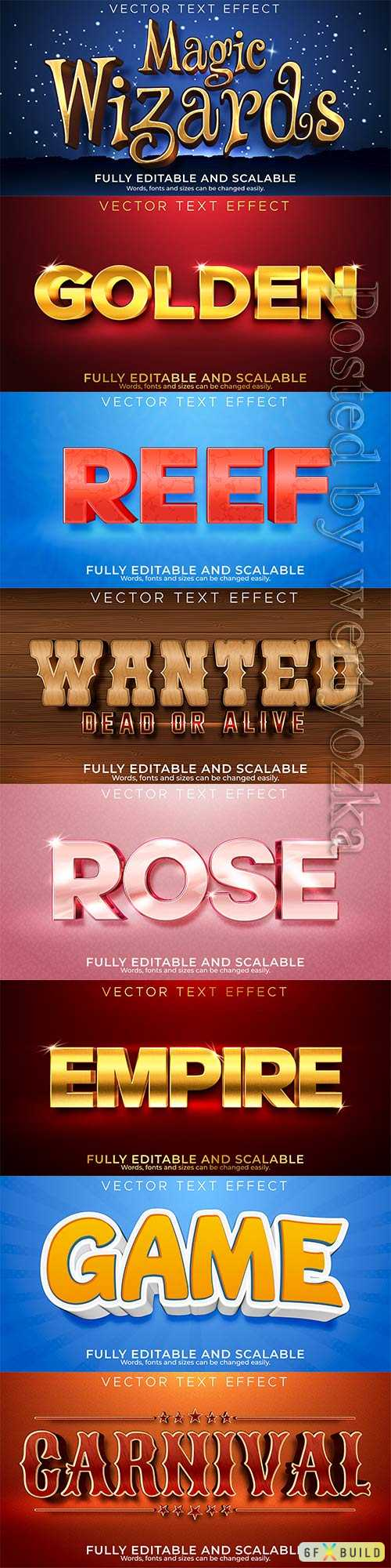 3d editable text style effect vector vol 340