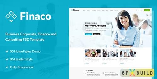 Finaco - Finance Corporate PSD Template 15434658