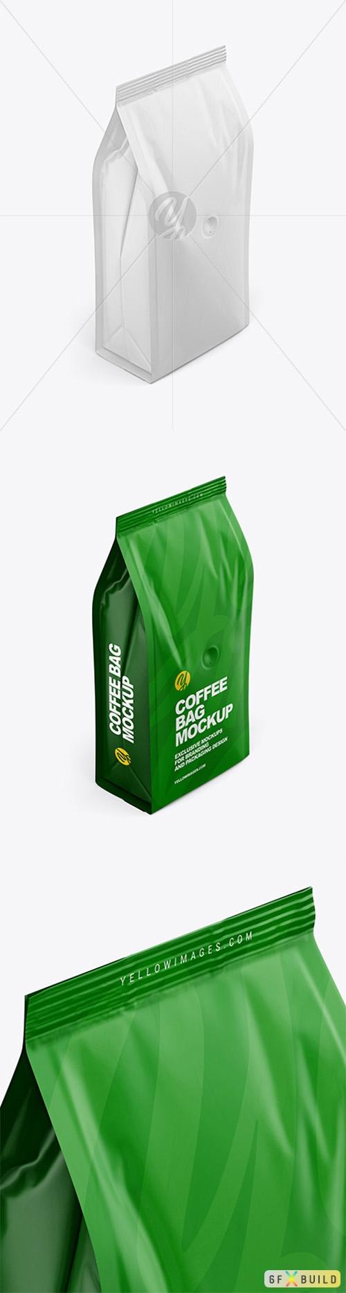 Matte Coffee Bag Mockup - Half Side View 62835 TIF