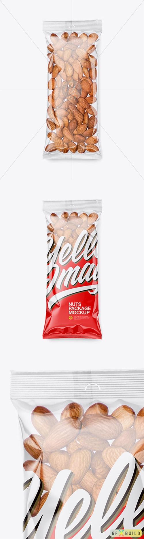 Clear Plastic Pack w/ Almonds Mockup 44084 TIF