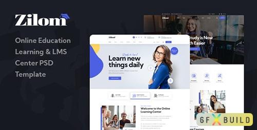 Zilom - Online Education Learning PSD Template