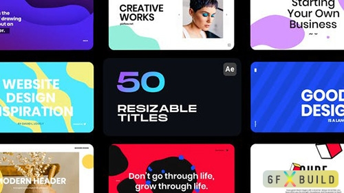 VideoHive - Resizable Titles 33100307