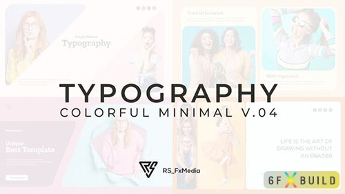 VideoHive - Typography Slide - Colorful Minimal V.04 33107223