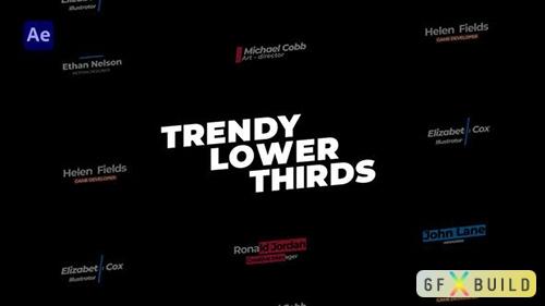 VH - Trendy Lower Thirds 33122709