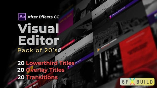 VH - Visual Editor Pack Of 20s | After Effects Version 32501062