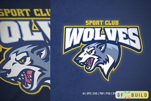 Vector Wolf Logo for Sport and E-Sport 23FGAS6