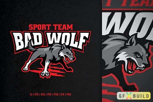 Vector Grey Bad Wolf Sport and Esport Logo KNN2QN2