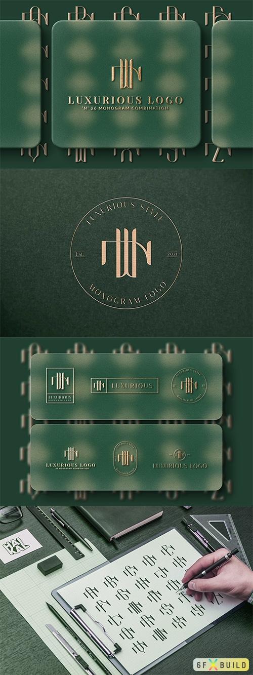 Vector N (A-Z) Monogram Logo Creator Pack Vol.5 PM9XTRX