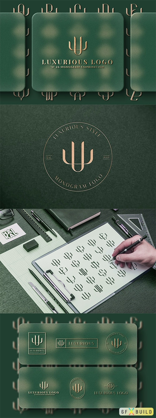 Vector U (A-Z) Monogram Logo Creator Pack Vol.5 Y4AUMP6