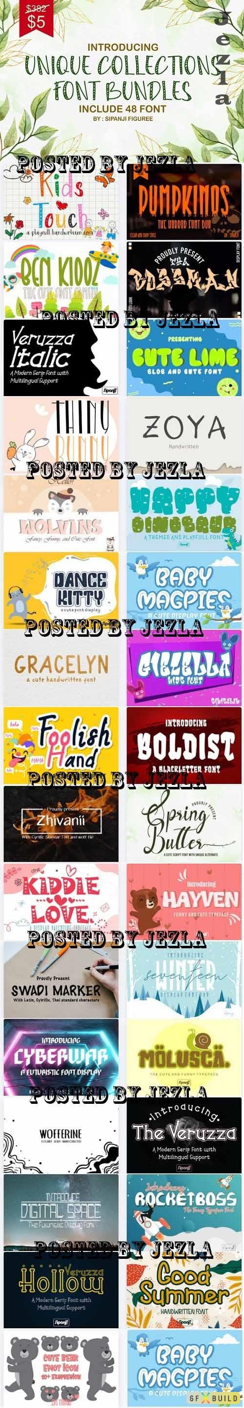 Unique Collections Display Font - 31 Premium Fonts and Graphics