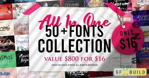 The All in One Fonts Collection - 50+ Fonts Collection