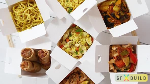 Asian Take Away or Delivery Food Concept
