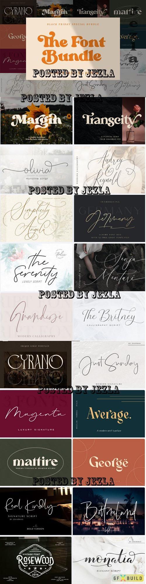 The Font Bundle - 20 Premium Fonts