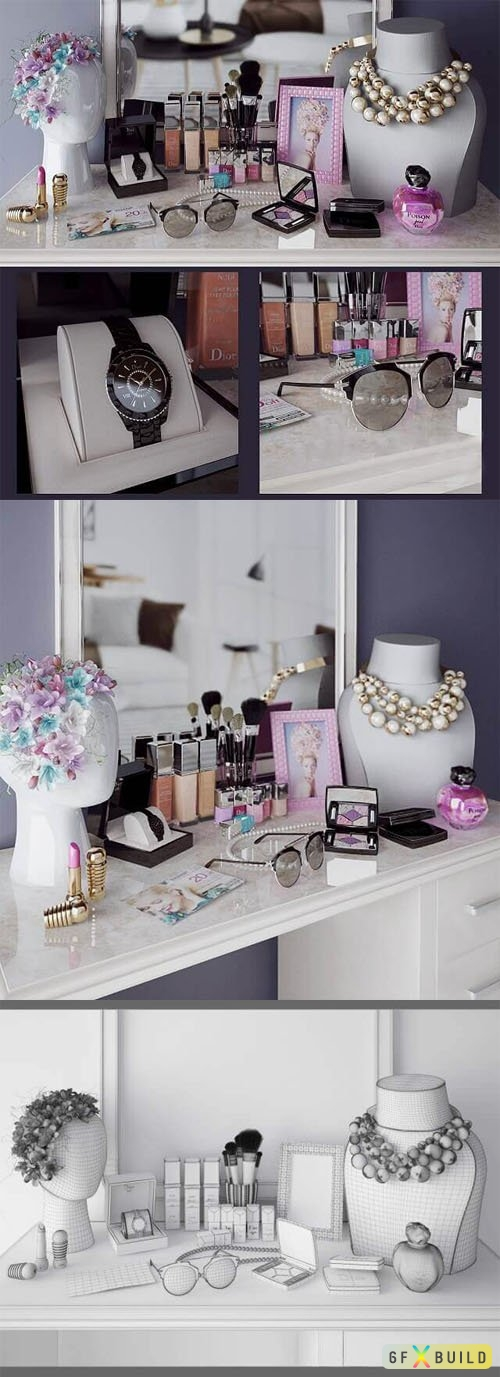 Beauty Salon 3ds Max Templates - Glamorous Set