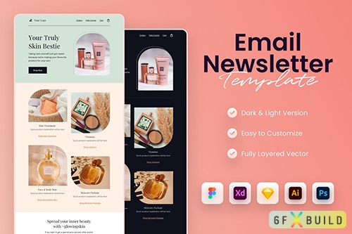 Beauty Email Newsletter Template