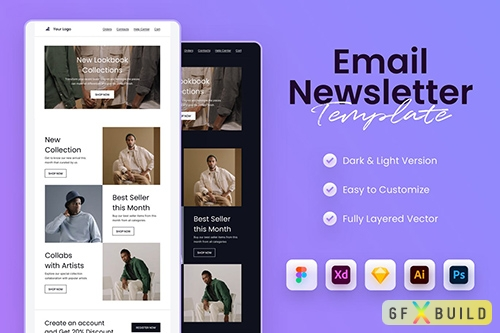Minimal Email Newsletter Template 2