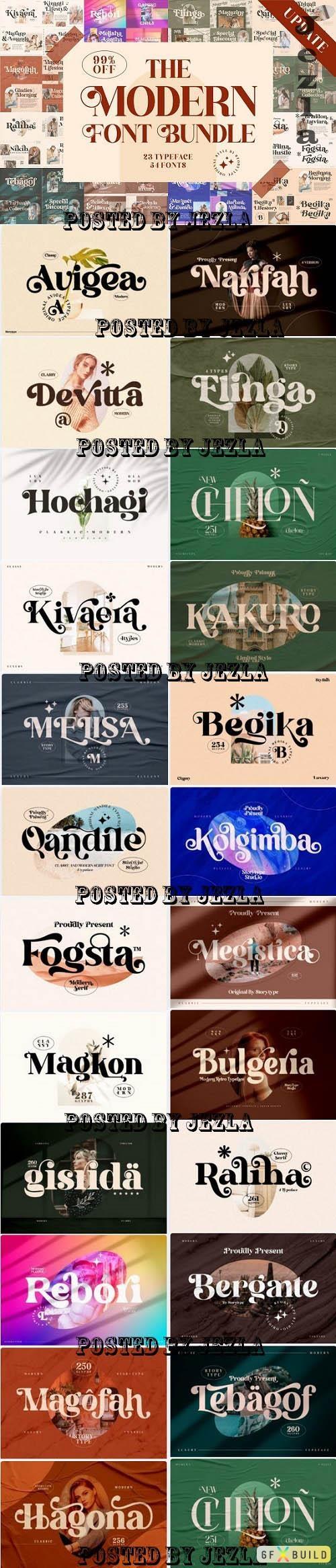 Modern Serif Font Bundle - 6274294