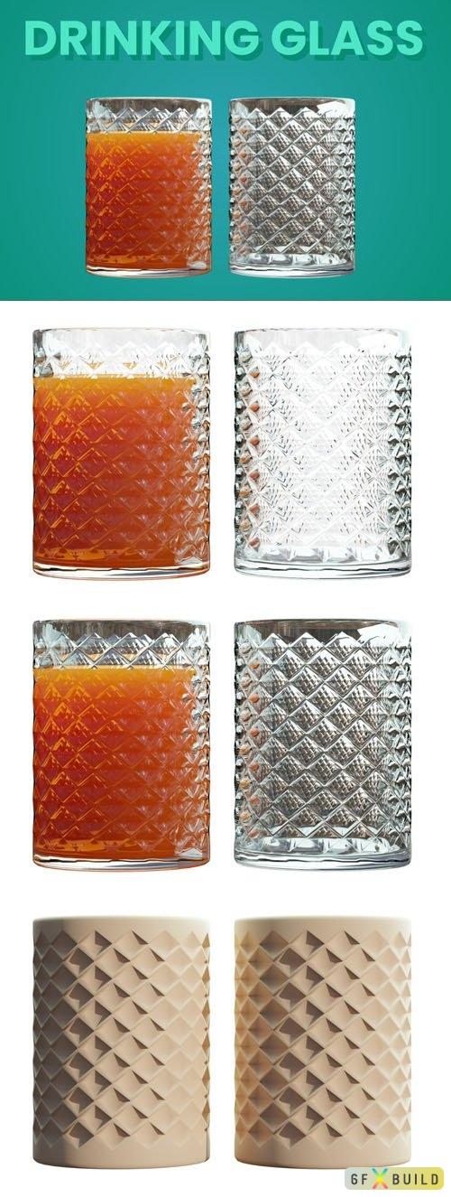 2 Drinking Glass 3D Model