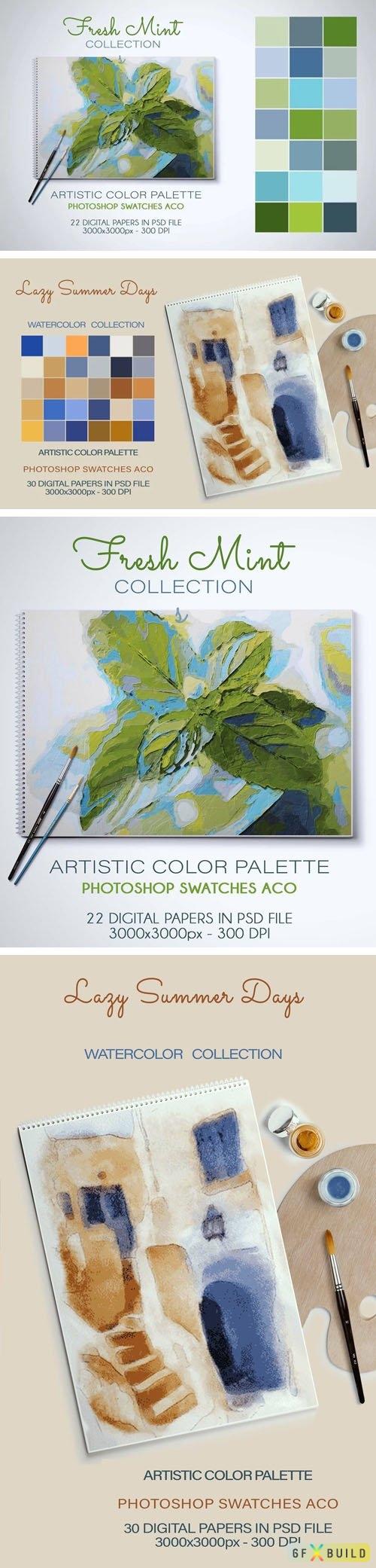 Artistic Color Palettes - Photoshop Swatches ACO