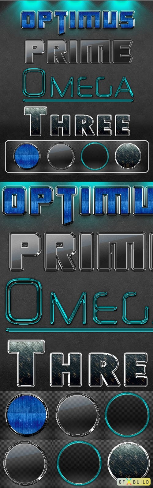 Prime Omega Three - 4 Photoshop Styles