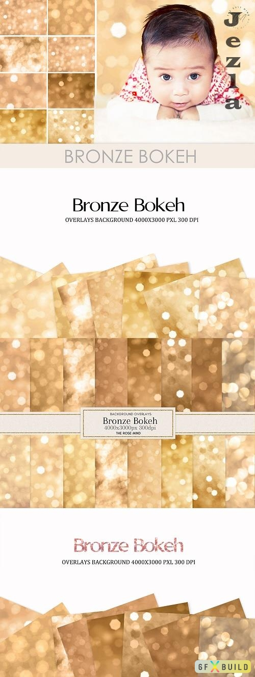 Bronze Bokeh overlays - 1552032