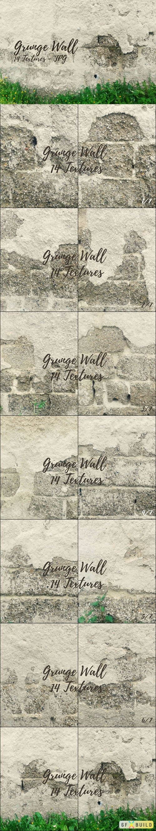 14 Grunge Stuccoed Wall Background Textures